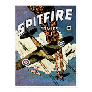 Carte Postale Chasseurs de Spitfire - la deuxième guerre