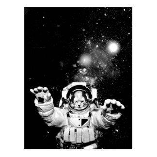 Carte Postale Chat de cosmonaute