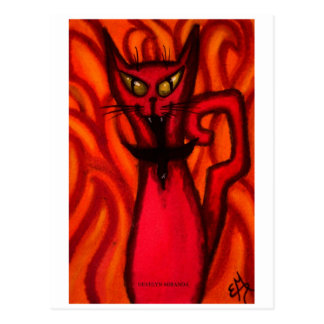 Carte Postale Chat de mal de diable