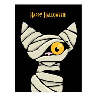Carte Postale Chat heureux de maman de Halloween