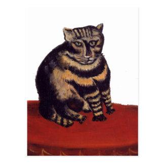 Carte Postale Chat tigré par Henri Rousseau