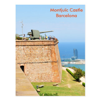 Carte Postale Château de Montjuic, Barcelone