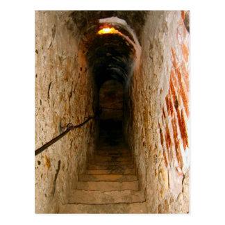 Carte Postale Château de son, la Transylvanie, escalier