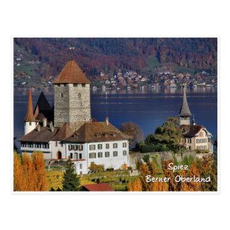 Carte Postale Château de Spiez, Suisse/Schloss Spiez, Schweiz