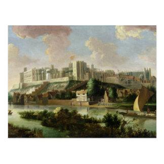 Carte Postale Château de Windsor vu de la Tamise, c.1700 (huile