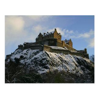 Carte Postale Château d'Edimbourg couvert dans la neige