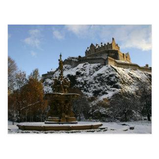 Carte Postale Château d'Edimbourg en hiver