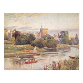 Carte Postale Château et Tamise 1910 de Windsor
