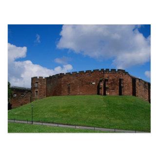 Carte Postale Château montrant la tour de demi-lune, Chester,