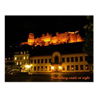 Carte Postale Château romantique d'Heidelberg la nuit