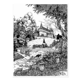 Carte Postale Château sur la colline
