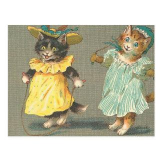 Carte Postale chatons espiègles vintages