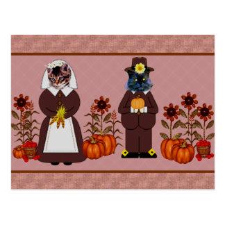 Carte Postale Chats de thanksgiving