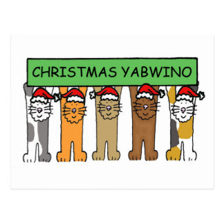 Carte Postale Chats malawiens de Noël heureux