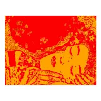 Carte postale chaude de baiser