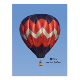 Carte postale chaude de ballon à air de Mothra
