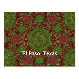 Carte postale chaude de rangée de mandala du Chili