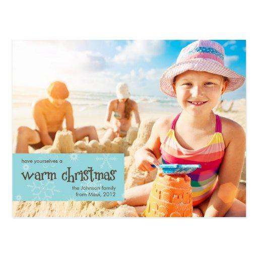 Carte postale chaude de vacances de photo de Noël