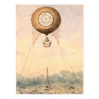 Carte postale chaude vintage lunatique de ballon à