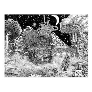 Carte Postale Chauffez contre la nuit