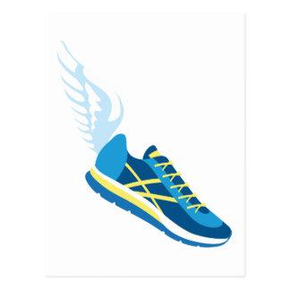Carte Postale Chaussure de course à ailes