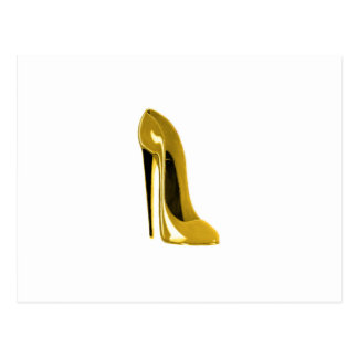 Carte Postale Chaussure stylet jaune