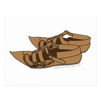 Carte Postale Chaussures balkaniques de danse folklorique