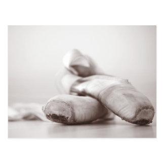 Carte Postale Chaussures de Pointe de ballet sur le modèle de