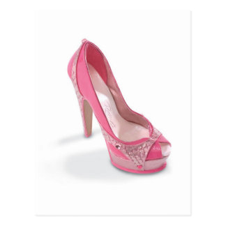 Carte Postale chaussures légalement roses