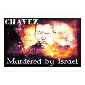 Carte Postale Chavez a assassiné par l'Israël