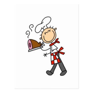 Carte Postale Chef avec les T-shirts et les cadeaux cuits au