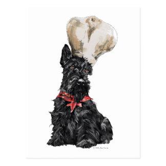 Carte Postale Chef de Terrier d'écossais