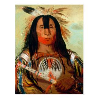 Carte Postale Chef principal de guerre des Indiens de sang