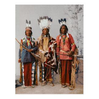 Carte Postale Chefs Garfield Ouche Te Foya 1899 d'Apache