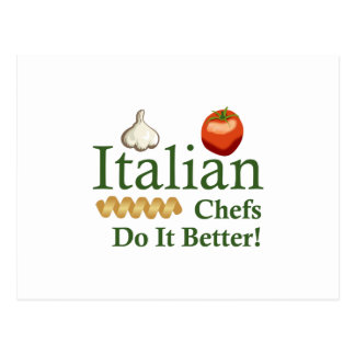 CARTE POSTALE CHEFS ITALIENS