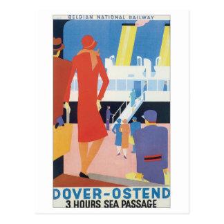 Carte Postale Chemin de fer de Belge de Douvres Ostende