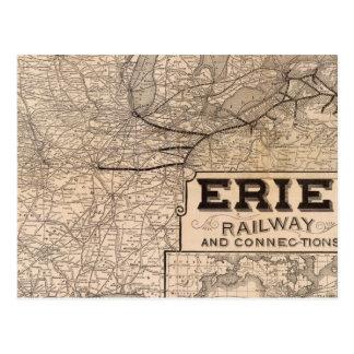Carte Postale Chemin de fer et connexions d'Erie