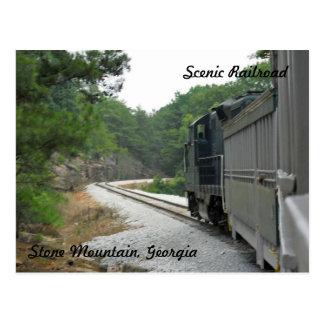Carte Postale Chemin de fer pittoresque, montagne en pierre la