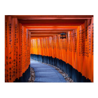 Carte Postale Chemin de Torii de tombeau de Fushimi Inari-Taisha