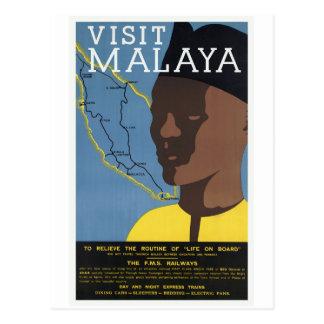 Carte Postale Chemins de fer de Malaisie Malaisie de visite