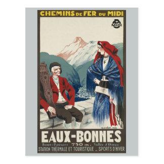 Carte Postale Chemins de fer d'Eaux-Bonnes France vintages