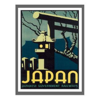 Carte Postale Chemins de fer vintages du Japon