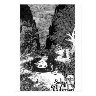 Carte Postale Chercheur d'illustration à l'encre d'aventure