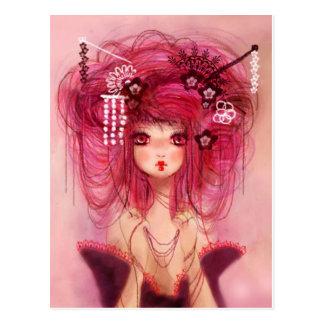 Carte Postale Cherry geisha