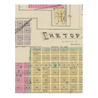 Carte Postale Chetopa, Dennis, Piqua, ville de Labette, le
