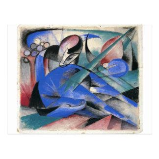 Carte Postale Cheval endormi par Franz Marc