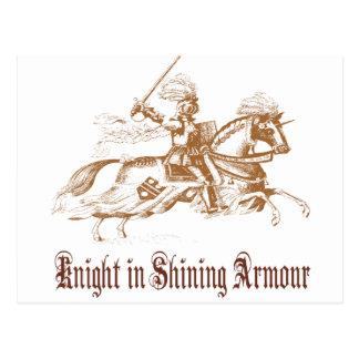 Carte Postale chevalier dans l'armure brillante