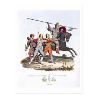 Carte Postale Chevalier et archers normands, 1066, 'du bras