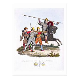 Carte Postale Chevalier et archers normands, 1066, 'du bras