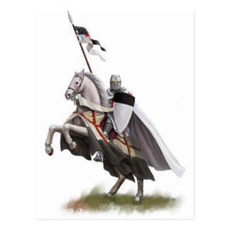 Carte Postale Chevalier monté Templar
